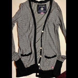 Victoria's Secret pink striped cardigan sz small